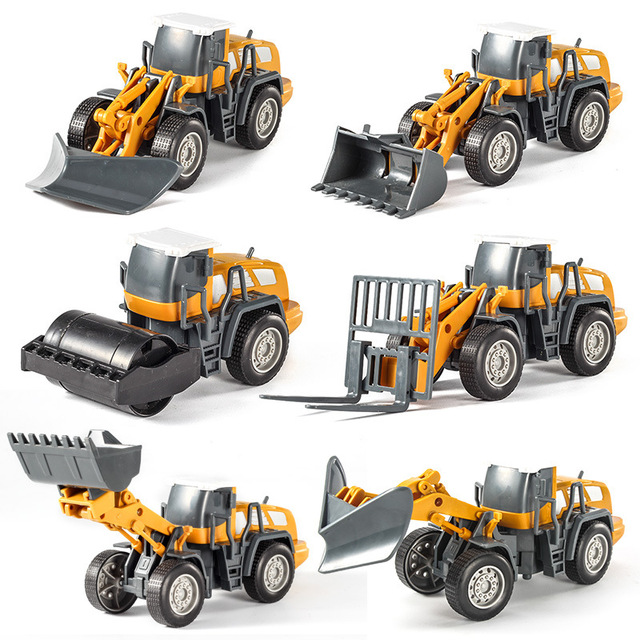 New Simulation RC excavator toys with Music and light Children's Boys RC truck toys gifts RC Engineering car tractor brinquedos 5
