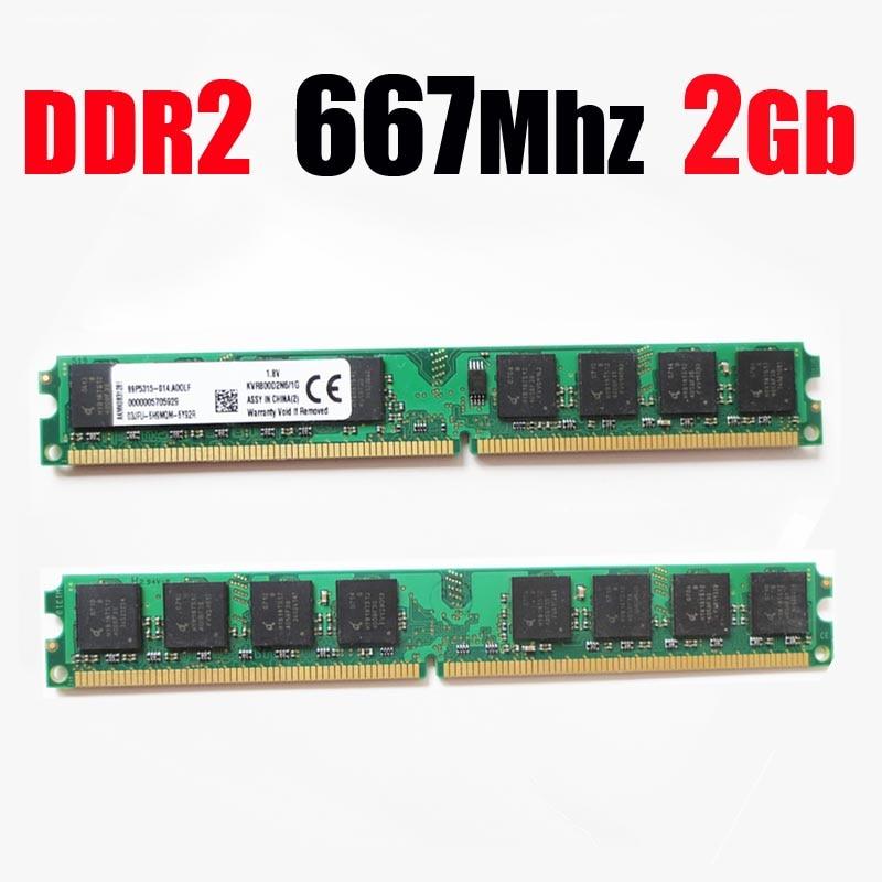 RAM ddr2 667 2Gb / 667Mhz PC2 5300 PC2-5300 DIMM RAM ddr2 2 gb 2G 4gb memory for AMD for all desktop - lifetime warranty