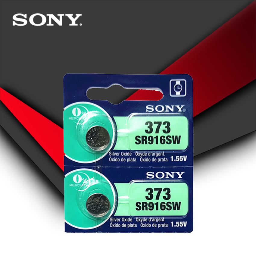 2pc Sony 100% Original 373 SR916SW 916 SR916 Watch Battery SR916SW 373 Button Coin Cell MADE IN JAPAN