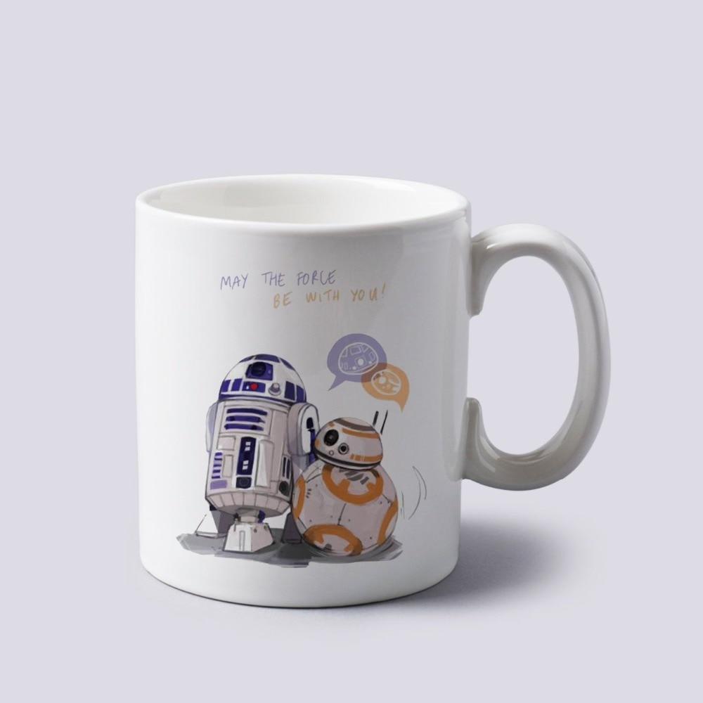 Star wars mugs r2d2 mugs meet bb8 cool photo porcelain the force awakens birthday gifts coffee mug ceramic tea cups white mug in mugs from home garden on