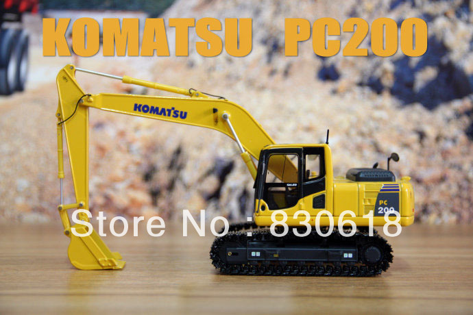 1:50 scale diecast KOMATSU PC200 excavator Construction vehicles toy 1 35 xugong xcmg xe215c excavator alloy truck diecast model construction vehicles toy
