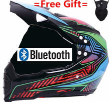 Motorcycle Bluetooth off-road helmets downhill racing mountain full face helmet motorcycle moto cross casco casque capacete недорго, оригинальная цена