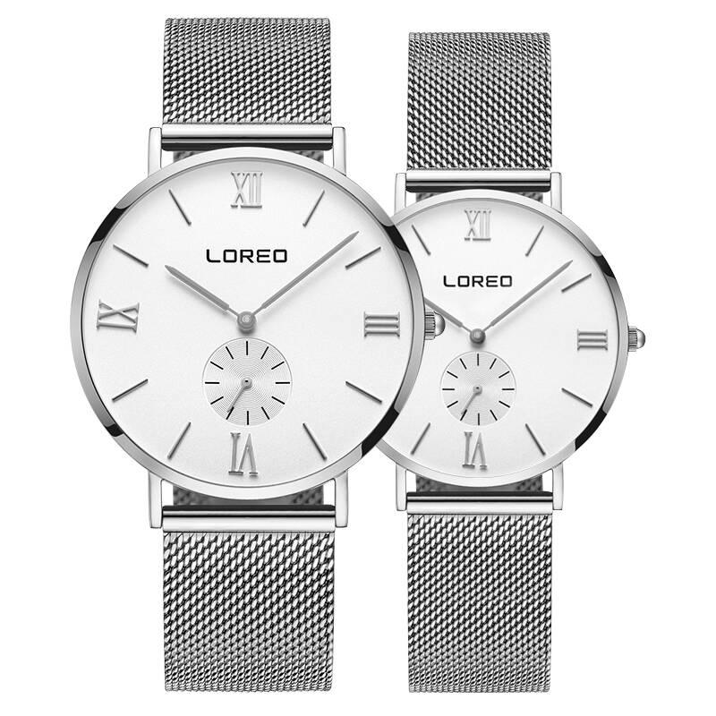 LOREO 5108 Germany bauhaus watches lover luxury brand Lover's watch thin section waterproof new Korean version bauhaus