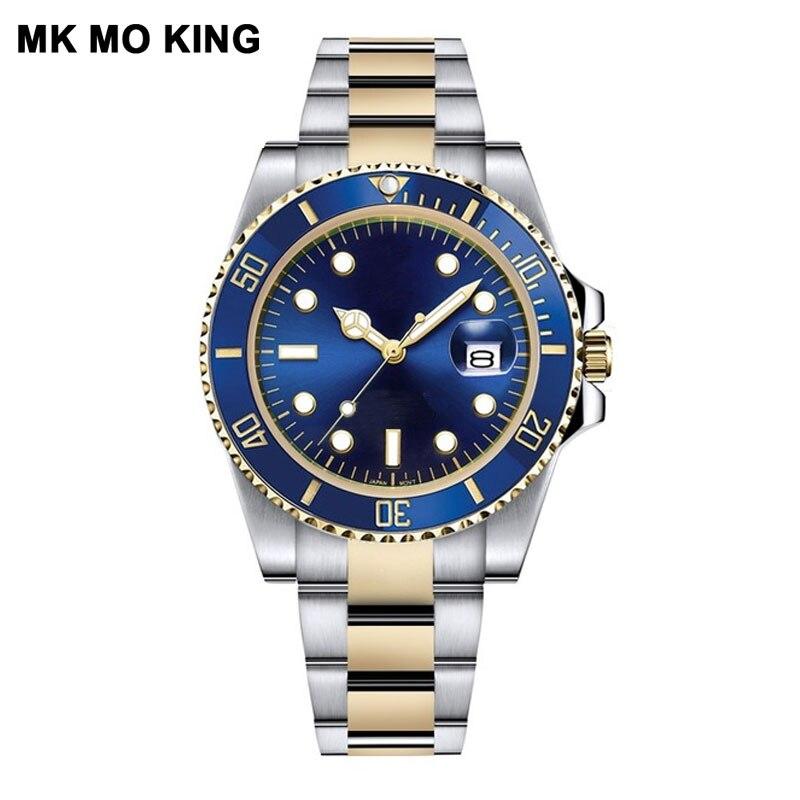 Steel Male 30m Role Sports Gifts For Couple Men's Women's Ladies Wrist Watch Lovers Clock Bracelet Rolexable Relogio Masculino