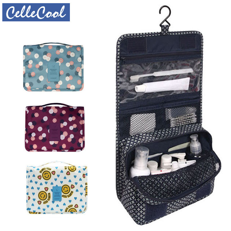 CelleCool High Quality Makeup Bags Organizer Travel Cosmetic Bag Women Portable Cover Case Cosmetic Toiletry Bag Men Wash Bag