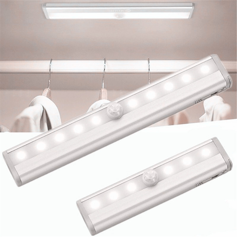 Wireless PIR Motion Sensor Night Light 6/10 LEDs PIR Infrared Motion Sensor Lamp Cold/Warm White Portable Closet Kitchen Lights