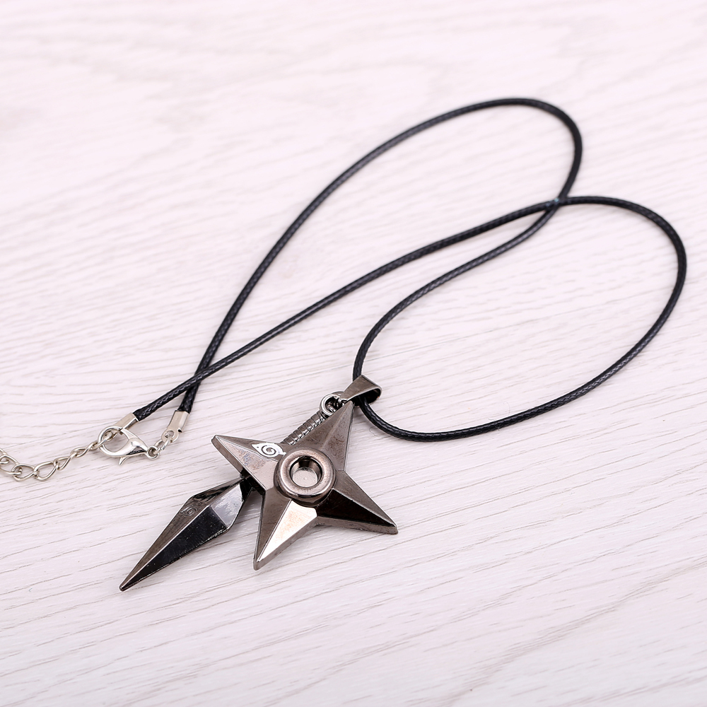 Naruto Shuriken Kunai Pendant Necklace