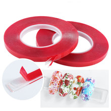 Mtssii 10m Nail Art Adhesive Double-sided Tape Red Film Clear Tape Stickers For Nail Display Lens Manicure Decoration Tool(China)