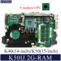 KEFU K50IJ Laptop motherboard für ASUS K40IJ K60IJ X5DIJ P81IJ P50IJ K40IN K50IN K40AB K50AB K50AF original mainboard 2G-RAM
