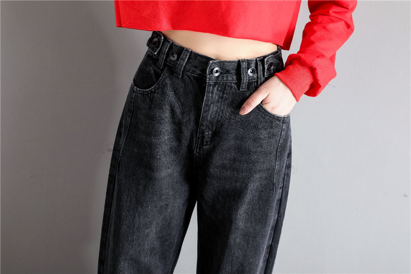 GCAROL New Women 93% Cotton Blends Pencil Denim Pants High Waisted High Street Boyfriend Style Jeans In 3 Colors Plus Size 26-32 21