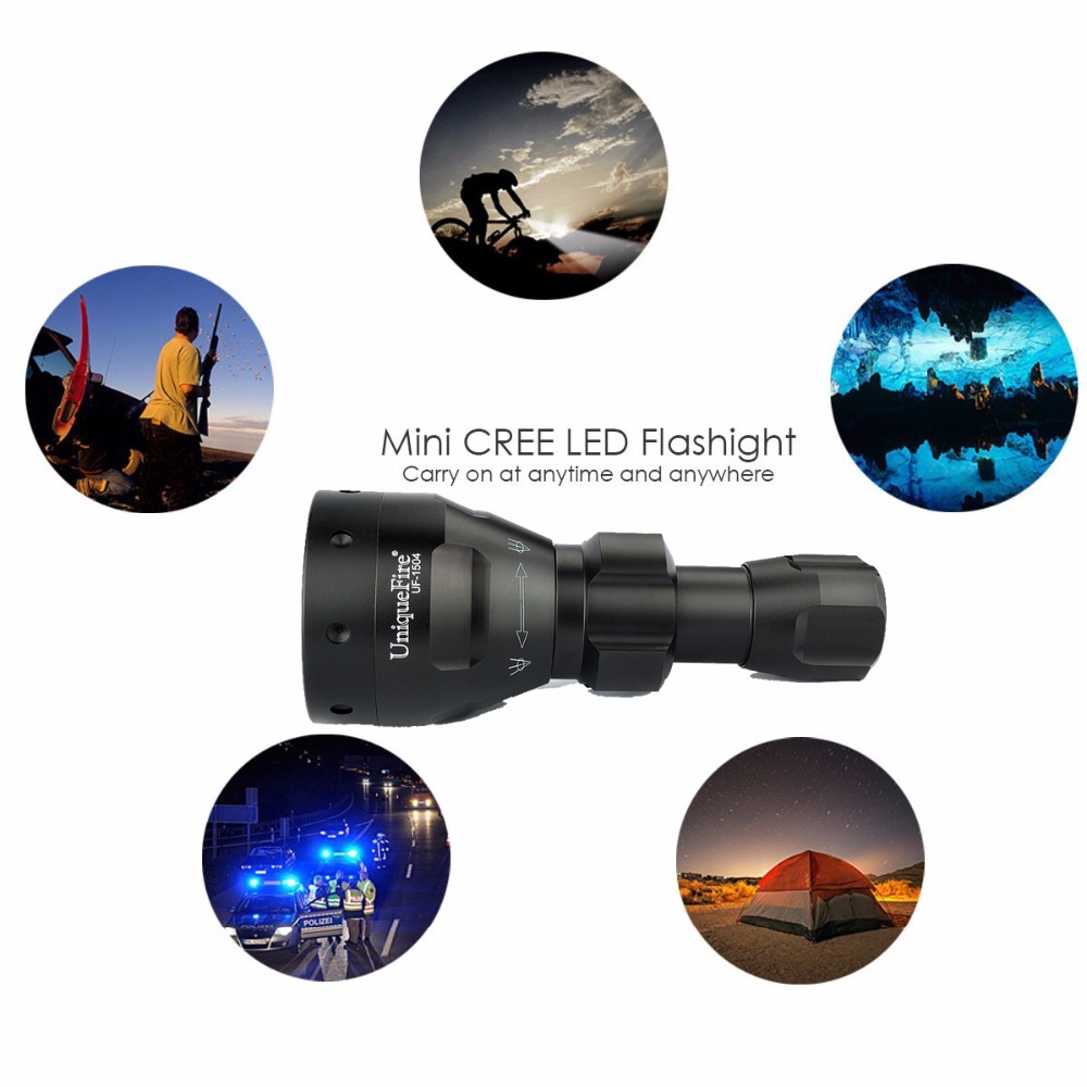 UniqueFire UF-1504 XPG/XPE Upgrade Red Cree LED Flashlight(3 Modes) Shooting/hunting Torch Adjustable 3W Lamp Hand Light автомагнитола jvc kd r771bt usb mp3 cd fm rds 1din 4x50вт черный