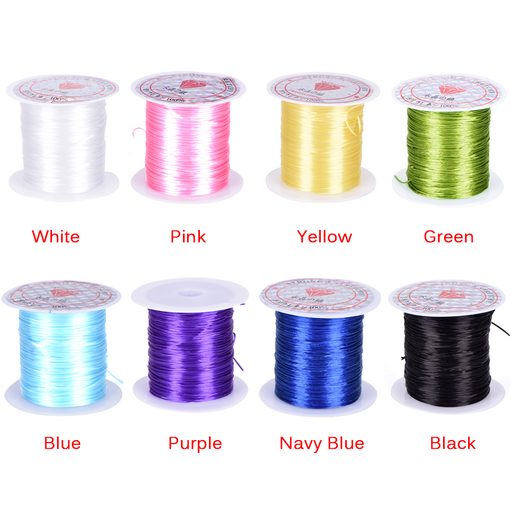 Colorful Stretchy Elastic Rope Cord Crystal String For Jewelry Making Beading Bracelet Wire Fishing Thread Rope 10M/Roll