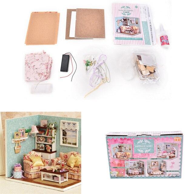 aliexpress: koop diy handmake houten poppenhuis miniatuur kit, Deco ideeën