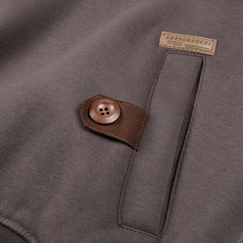 Varsnanol осень толстовки с капюшоном Для мужчин большой карман Street Повседневное Хип-Хоп кофты Мода капюшоном Костюмы пуловер с капюшоном