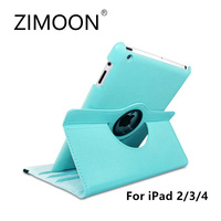 Zimoon For Apple Ipad 2 3 4 Magnetic Auto Wake Up Sleep Flip Litchi Leather Case