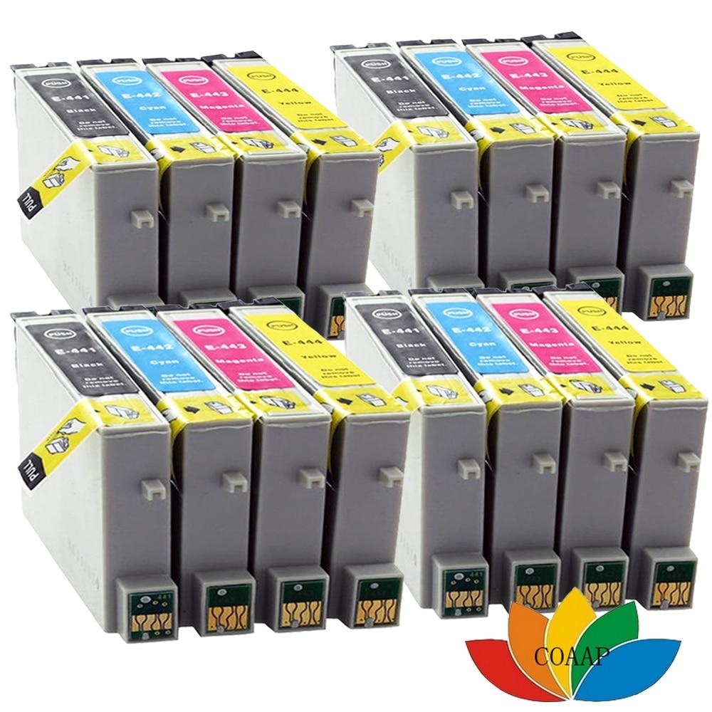 16 kompatibel t0445 tintenpatrone für epson stylus c64 c66 c84 c86 drucker