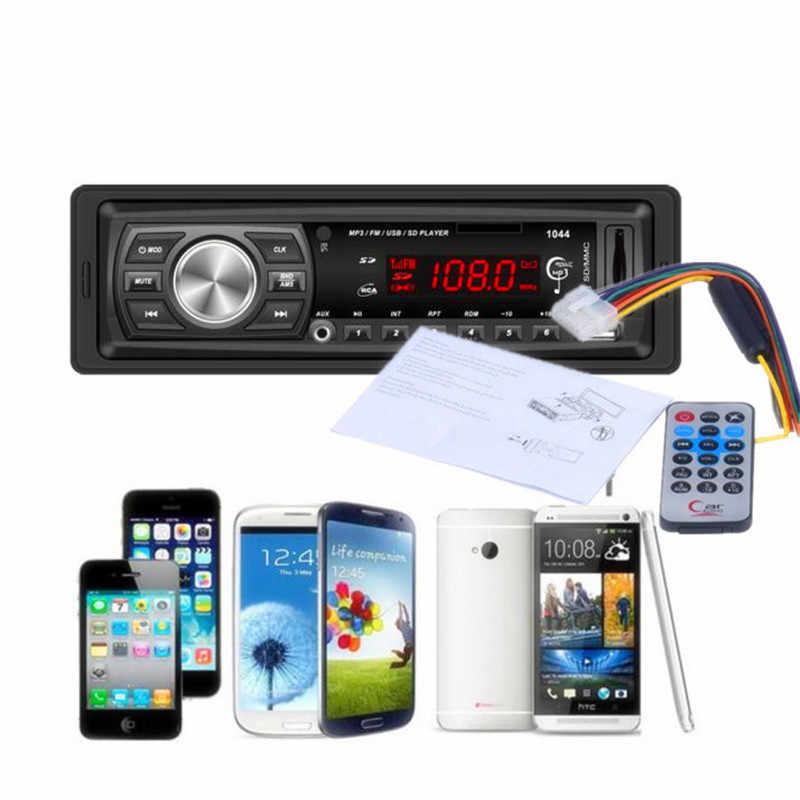 車 Mp3 プレーヤー 87.5 mhz-108.0 mhz ダッシュカーオーディオ Bluetooth ステレオヘッドユニット MP3/USB/ SD/MMC 18 Augt 31