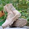 Кожа Мужской коммандос пустыни сапоги для зимних Мартин сапоги Мужские высокого верха военные оснастки сапоги обувь A205