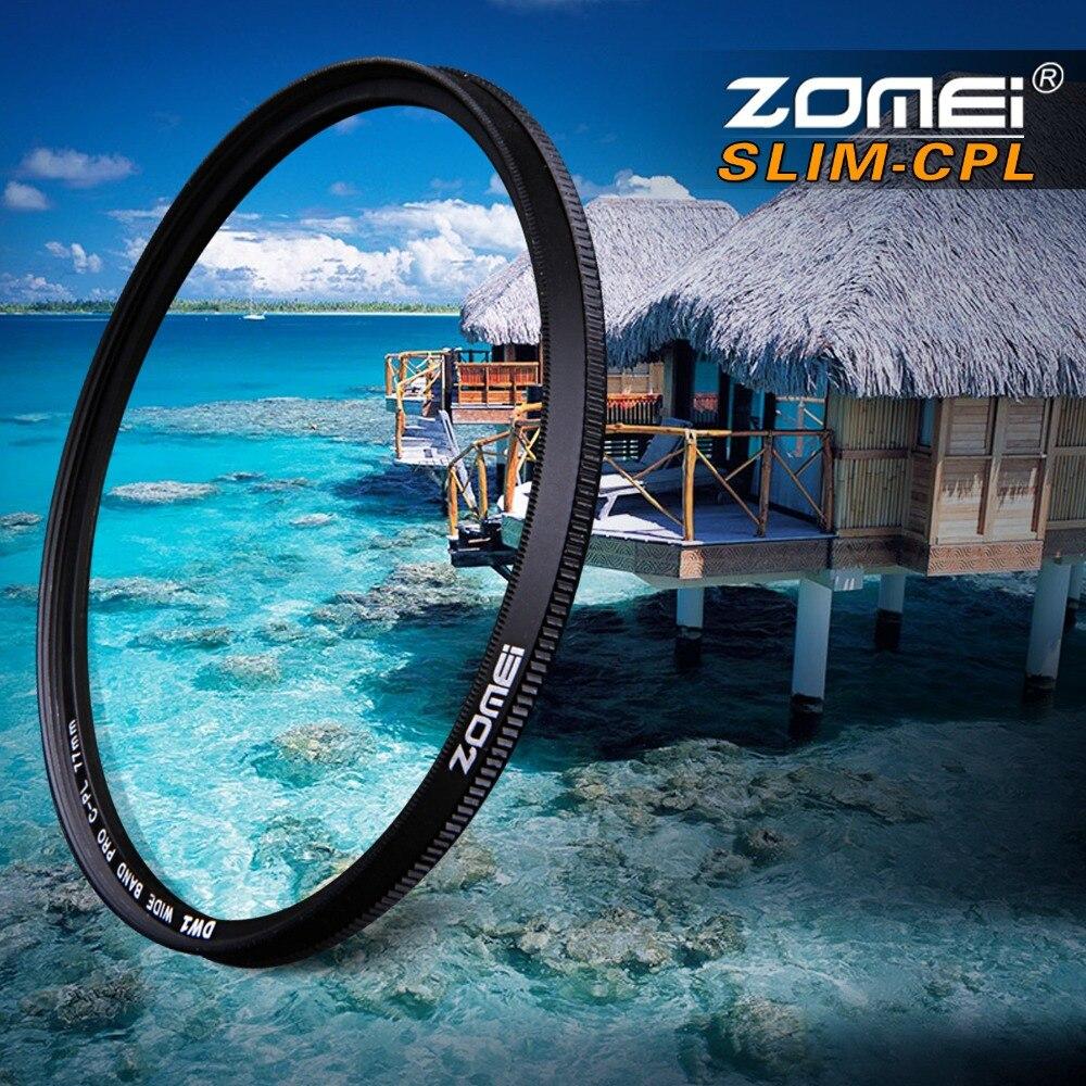 ZOMEI Ultra delgado AGC cristal óptico PRO CPL Polarizador Circular lente filtro 52 55/58/62/67/72/77 82mm