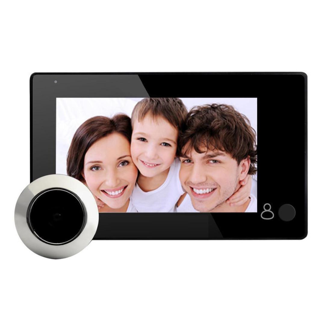 4.3 inch 145 Degree LCD Digital Peephole Door Viewer Door Eye Camera Video Digital Security Monitoring for Door Peephole