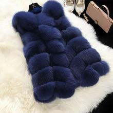 OLOEY High quality Fur Vest coat Luxury Faux Fox Warm Women Coat Vests Winter Fashion furs Women's Coats Jacket цена и фото