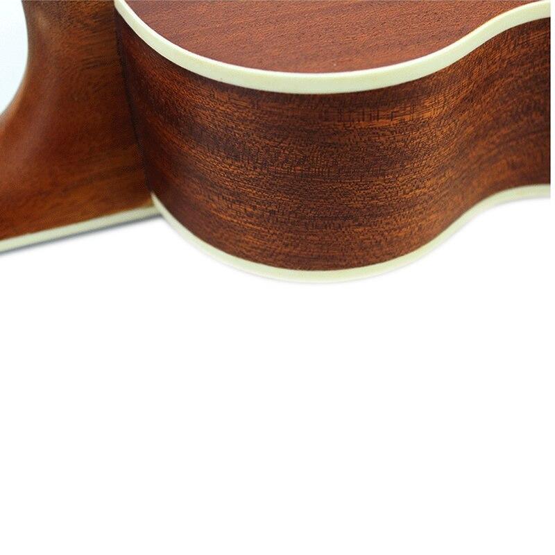 Mcool 23 pouces Concert épicéa palissandre touche Ukelele Ukulele 4 cordes Hawaii Mini guitare Uke en forme de coeur ton trou - 6