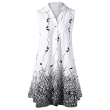 Rosegal Women Summer Plus Size 5XL Sleeveless Graphic Longline Blouse Button Monochrome Lady Long Top Casual Clothing
