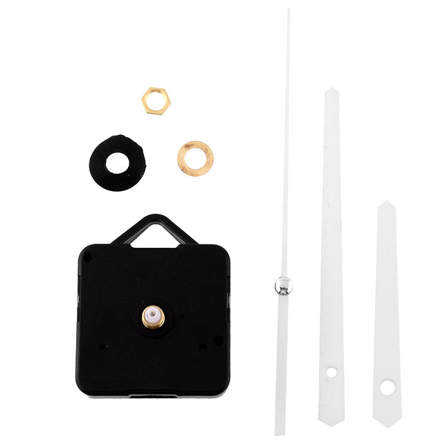 New Classic White Hands Clock Movement Mechanism Parts Repair Replacing DIY Essential Tools Set Quiet Silent