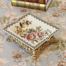 christmas 21*18*7CM craft accessories living room bedroom desktop antique European Ceramic ashtray gift