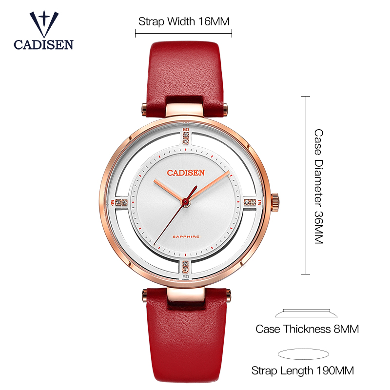Womens Watches Top Brand Luxury Cadisen Crystal Watch Fashion casual Women Leather Dress Quartz Wristwatches relogio feminino watches women fashion watch 2016 top belbi brand casual ladies alloy quartz watch round mirror waterproof womens wristwatches