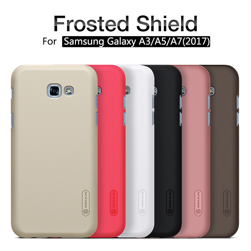 case for Samsung Galaxy A3A5A7(2017) 4.75.2 5.7 NILLKIN Super Frosted Shield hard back cover with free screen protector