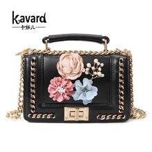 Kavard Blumen Mini tasche handtaschen frauen berühmte marke luxus handtaschenfrauen-designer beutel Crossbody Messenger bag sac ein haupt
