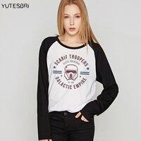 Brand Clothing Star Wars Autumn Winter Women T Shirt The Darth King Top Korean Camisetas Geek