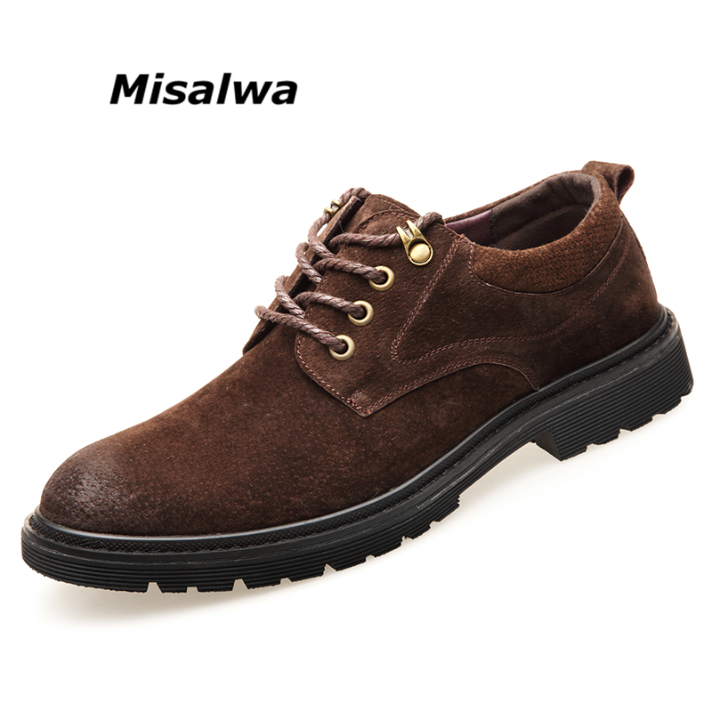 Misalwa Shoes Men Brogue Shoes Round Toe Men Casual Leather Footwear Men Autumn Spring Wear-resistant Leisure Men Flats 2018 wear resistant casual men backpack