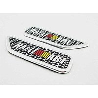 2pcs Set Car Styling Accessories Emblem Badge Decal Sticker Side Fender Racing Motorsport RALLIART For MITSUBISHI
