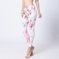 Women Athletic Sportswear Yoga Leggings Pants Colorful Soft Elastic Printed Workout Trousers Sexy Gym Jogging Compression