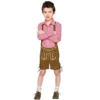 Children Cosplay Boy Lederhosen Oktoberfest Costume German Bavarian Fantasia Party Uniform For Kid Halloween Costumes Kids