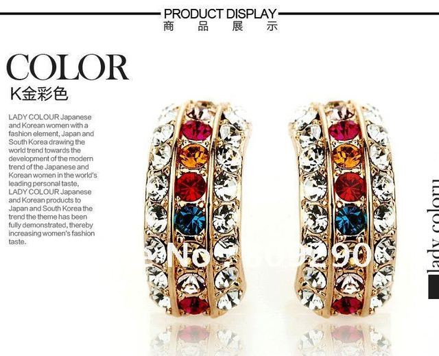 2012 newest item,From ebay!!good price,good qulity!!wholesale and retail fashion novelty Delicate Crystal showilyl stud earring