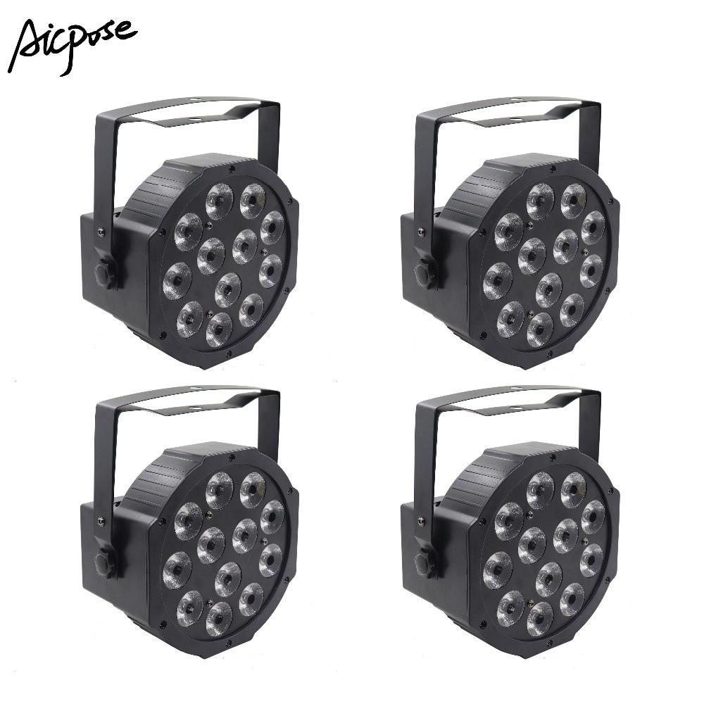 4Pcs/lots 12x12w LED Par RGBW 4 In 1 Light Professional DJ /Bar /Party /Show /Stage Light LED Stage Lighting