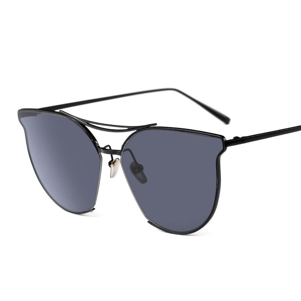 2018 Лидер продаж Мода Cateye сплав улица выстрел Ретро Для мужчин wo Для мужчин UV400 Солнцезащитные очки для женщин Винтаж бренд звезды дизайнерск...