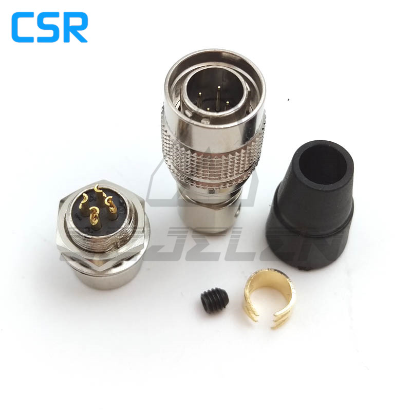 Hirose Connector <font><b>4</b></font> <font><b>pin</b></font> Male <font><b>and</b></font> female couple , HR10A-7P-4P/HR10A-7R-4S , Recording equipment camera power <font><b>plug</b></font> <font><b>socket</b></font> image
