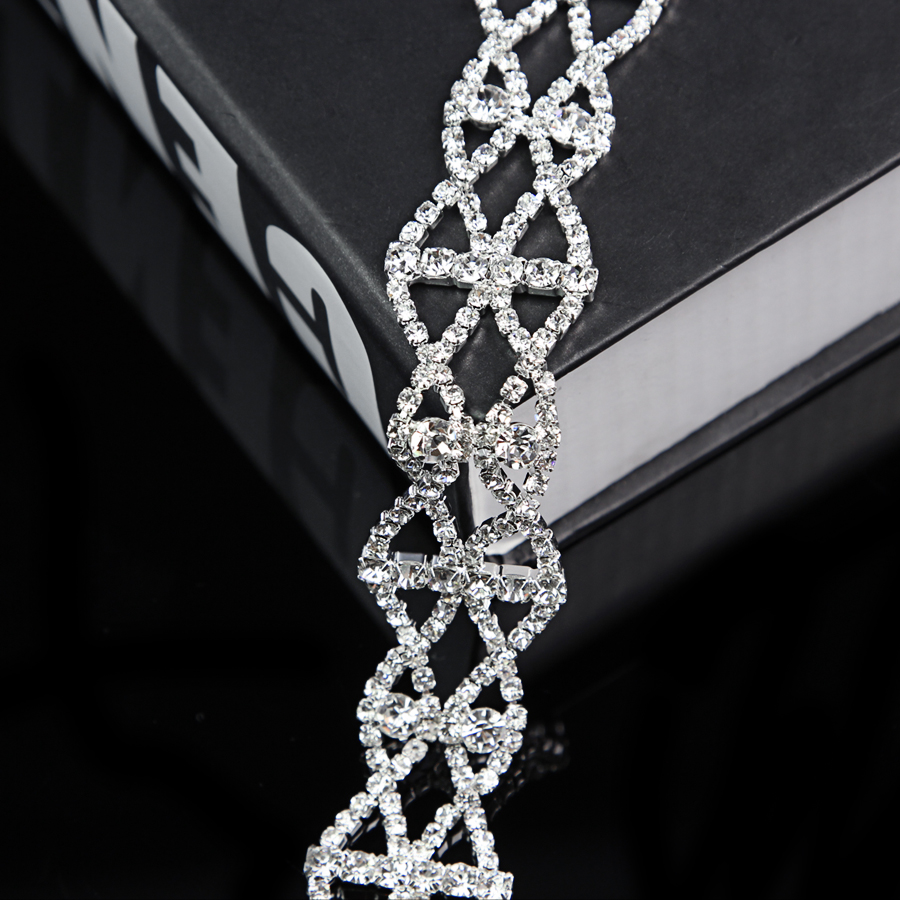 10Yards Crystal Clear Glass Rhinestone Chain Trim Sewing Crafts Jewelry in Rhinestones from Home Garden