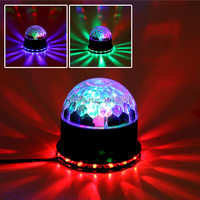 Stage Lights Laser Projector LED Rotated Base Voice Activated Led Crystal Magic Ball Light Disco DJ