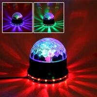 אורות במה לייזר מקרן LED מסובב בסיס אור דיסקו DJ כדור קסם led קריסטל הופעל-voice משלוח חינם