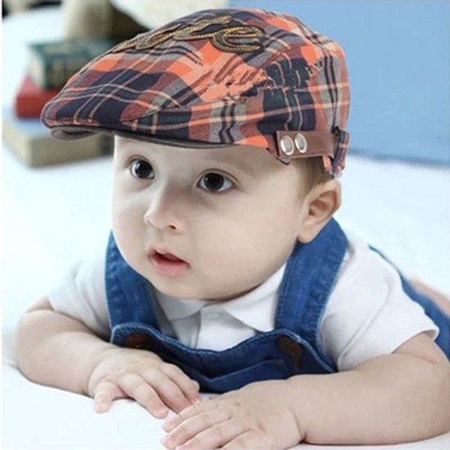 5971a4f28c9 Autumn and summer Simple Stripe Design England Style Baby Hat Boy Cap For Child  Girl Beret