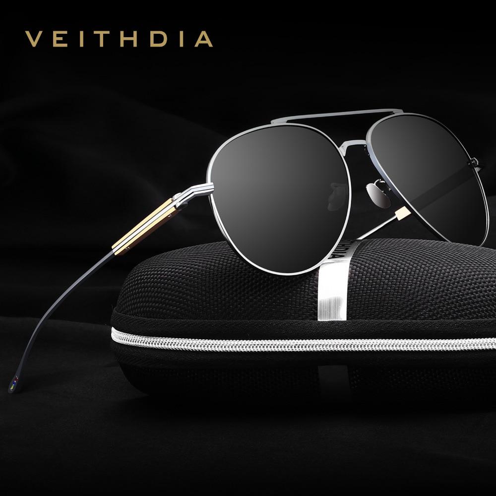VEITHDIA Fashion Brand Unisex Designer Aluminum Men Sun Glasses polarized Mirror Male Eyewear Sunglasses For Wommen