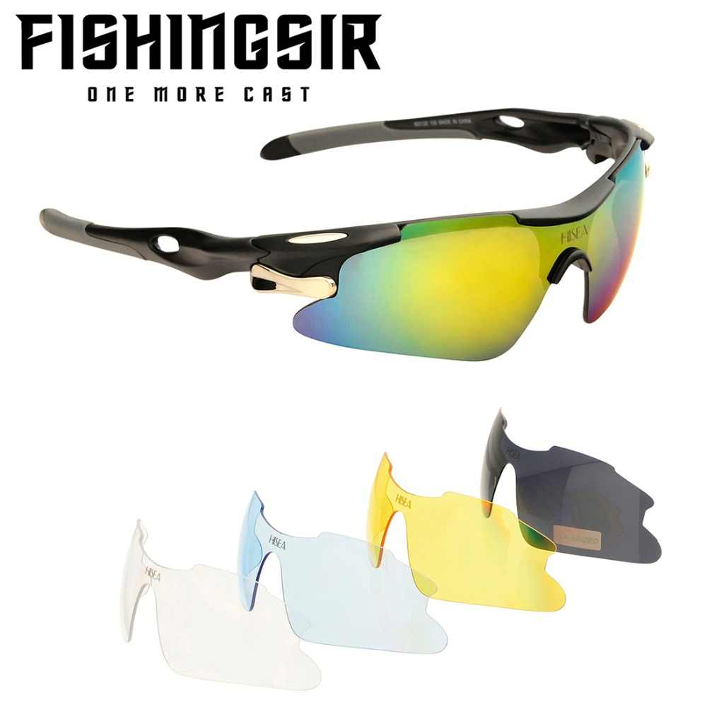 cf35f3e7a02 Polarized UV400 Sport Sunglasses w  5 Interchangeable Lenses Men Women Fishing  Cycling Camping Glasses Summer