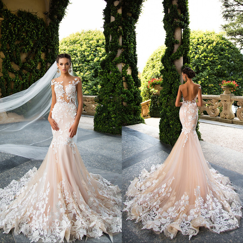 Online Buy Wholesale blush mermaid wedding dress from China blush ...