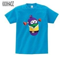 Childrens 2019 VeggieTales Larry The Cucumber Short Sleeve T- Shirt Newest  Adventure Animation Boys and Girls summer Tshirt MJ