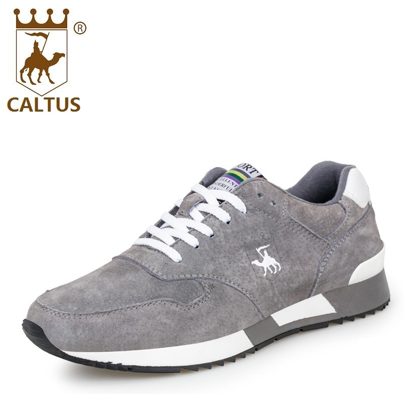 CALTUS Leather Men Casual Shoes 2017 Soft Footwear Classic Men Flats Brand Soft Male Shoes AA20529 male casual shoes soft footwear classic flats men genuine leather shoes good quality working shoes size 38 44 aa30059